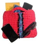 Red bag for woman boho style, small red purse and casual bag for everyday