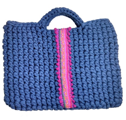 Blue bag for woman, vegan blue purse for her, small bag for everyday, fashion and boho style handbag