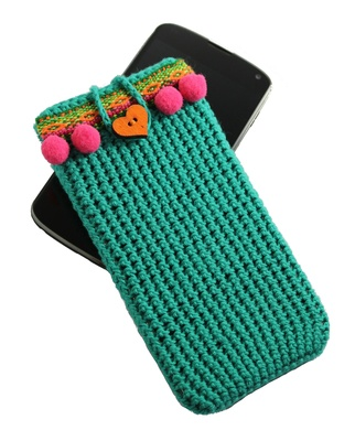 Cell phone case for Samsung Galaxy, Green boho style phone cover for woman