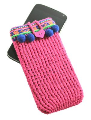 Cute iPhone case for iPhone 7 and 8, vegan gift and boho style decoration, Pink color